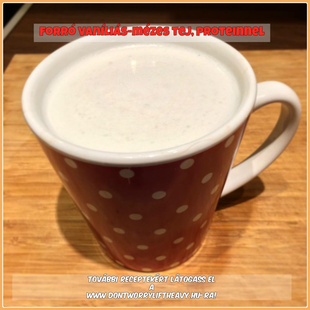 Forró vaníliás-mézes tej, a hideg napokra